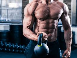 Training biceps with weight in the home